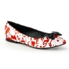 VAIL-20BL White/Red Patent
